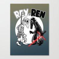 Rey Vs Ren Canvas Print