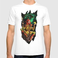 A Wizard In The Dark Mens Fitted Tee White SMALL