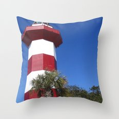 Habour Town Lighthouse Throw Pillow