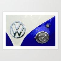 VW Split Screen Navy Art Print