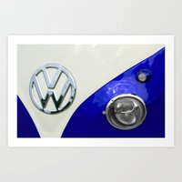 VW Split Screen Navy Art Print