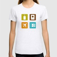 Travel Icons Womens Fitted Tee Ash Grey SMALL