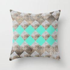 GeometricWood Throw Pillow