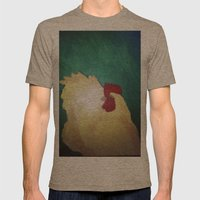 Hen. Mens Fitted Tee Tri-Coffee SMALL