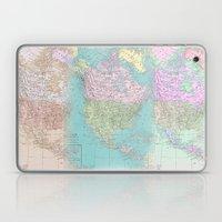 Vintage North America Map Laptop & iPad Skin