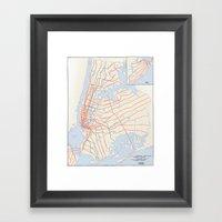 Plans For New York Subwa… Framed Art Print