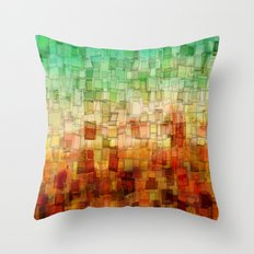 Golden Tide Mosaic Throw Pillow