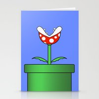 Minimalist Piranha Plant Stationery Cards