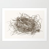 Wire Nest Art Print