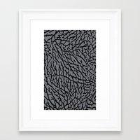 Framed Art Print featuring Cement Elephant Print by dTydlacka
