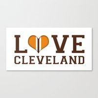 LUV Cleveland Canvas Print
