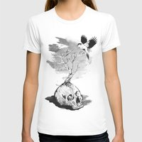 In Harmony Womens Fitted Tee White SMALL