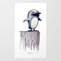 Daily Doodle - Linux2 Art Print