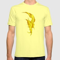 Abstract island Mens Fitted Tee Lemon SMALL