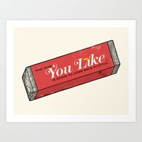 That gum you like is going to come back in style. Art Print