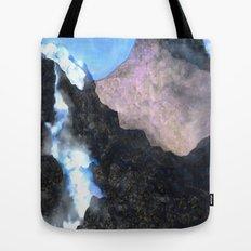 Canadian Mountain Scene Tote Bag