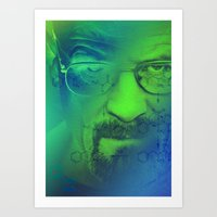 breaking bad Art Prints featuring Breaking Bad by Scar Design