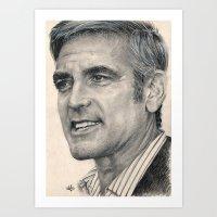 George Clooney Traditional Portrait Print Art Print