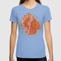GRACE Womens Fitted Tee Tri-Blue SMALL