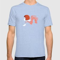 Moped Girl Mens Fitted Tee Tri-Blue SMALL