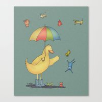 It's raining cats and dogs Canvas Print