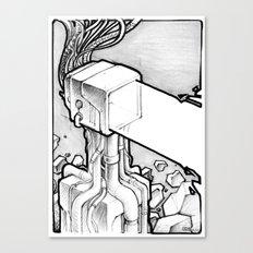 TV Blast sketch Canvas Print