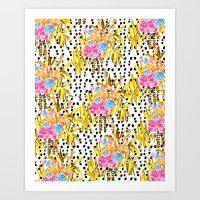 Patterned Bouquet II Art Print