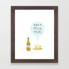 burger and beer Framed Art Print