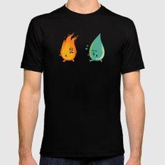 Impossible Love (fire and water kiss) Mens Fitted Tee Black SMALL