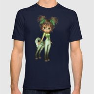 Elf Pony Melly Melon Mens Fitted Tee Navy SMALL