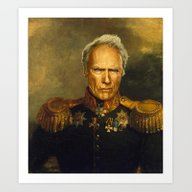 Art Print featuring Clint Eastwood - Replace… by Replaceface