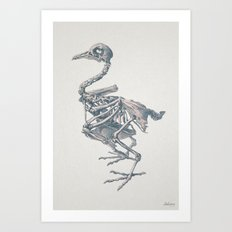 Noble death of chicken Art Print
