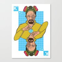 Walter King of Diamonds Canvas Print