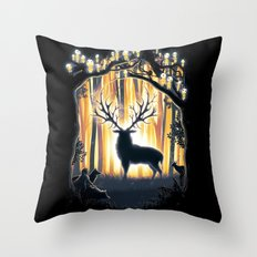 Master of the Forest Throw Pillow