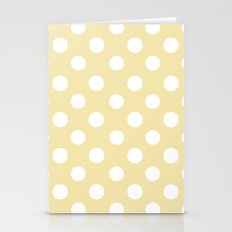 Polka Dots (White/Vanilla) Stationery Cards