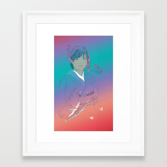Yuka Framed Art Print