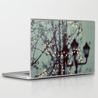 winter Laptop & iPad Skins featuring Winter Lights by elle moss