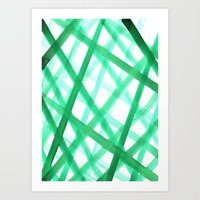 Criss Cross Green Art Print