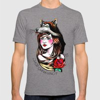 Chica Lobo Mens Fitted Tee Tri-Grey SMALL