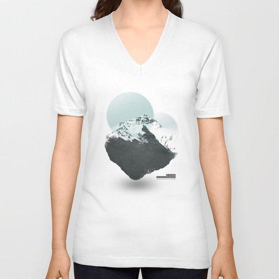 Mt. Everest - The Surreal North Face V-neck T-shirt