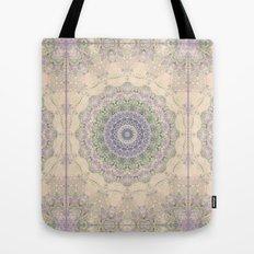 32 Wisteria Pine Loop -- Vintage Cream and Lavender Purple Mandala  Tote Bag