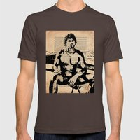 He Worked On His Father'… Mens Fitted Tee Brown SMALL