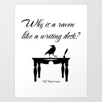 Alice In Wonderland Why Is A Raven Like A Writing Desk Art Print