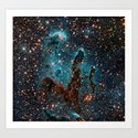Pillars of Creation Nebula Art Print