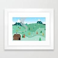 Mountain Christmas Framed Art Print