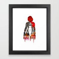 Black Widow Print Framed Art Print