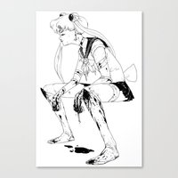 Brawler Sailor Moon - Sketch Canvas Print