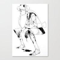 Brawler Sailor Moon - Sk… Canvas Print