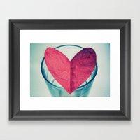 I Give You My Heart Framed Art Print