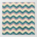 Speckled Chevron Canvas Print